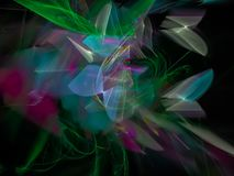Fractal digital abstrato, projeto, explosão dinâmica, elegância mágica festiva ilustração royalty free