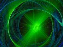 Fractal digital brillante del elemento abstracto, futuro oscuro del hermoso diseño de la llama del disco del disco de la curva libre illustration