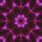 Fractal digital kaleidoscope decor texture ornament abstract, mandala beautiful design royalty free stock images