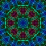 Fractal digital kaleidoscope abstract, mandala beautiful design stock image