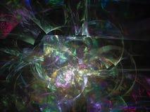 Fractal digital, magische brennende dynamische Bewegung der abstrakten Bewegung, Tapetenfarbphantasie-Parteihintergrund, Karte, f lizenzfreie abbildung