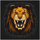 Fractal do leão ilustração royalty free