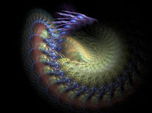 Fractal dragon. Is a complex fractal image Royalty Free Illustration