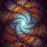 Fractal dream. Finonacci fractal dream entrapment net royalty free stock photography