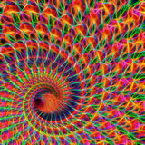 Fractal drutu płomienia Digital sztuka współczesna Zdjęcie Royalty Free