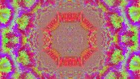 Fractal dynamiczny magiczny modny migocący tło Zjadliwa paleta ilustracji