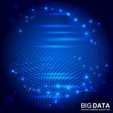 Fractal element Big data. Big data connection complex. Royalty Free Stock Photos