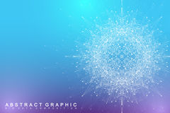 Fractal element with compounds lines and dots. Big data complex. Graphic abstract background communication. Minimal. Array Big data. Digital data visualization Royalty Free Stock Image