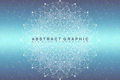 Fractal element with compounds lines and dots. Big data complex. Graphic abstract background communication. Minimal Royalty Free Stock Images
