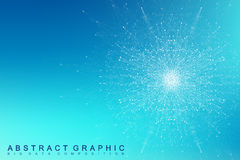Fractal element with compounds lines and dots. Big data complex. Graphic abstract background communication. Minimal Royalty Free Stock Image