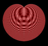 Fractal en forma de corazón Fotos de archivo libres de regalías