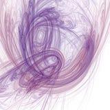 Fractal esboçado em cores pastel Ilustração Stock