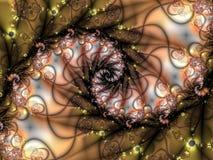 Fractal espiral Ilustración del Vector