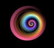 Fractal espiral rojo Fotografía de archivo libre de regalías