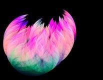 Fractal födelsen av rosa flamingofågelvyluplivajut stock illustrationer