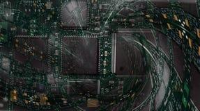 fractal för bakgrundsbrädeströmkrets Arkivfoto