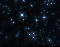Fractal för nattsky Arkivbilder