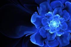 Fractal fantastyczny błękitny kwiat Obraz Royalty Free