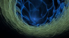 Fractal fantasy. Stylized images of color and intersecting spiral lines. The infinity of space and time. Chaotic movement in space. Collision of stars Royalty Free Stock Photo