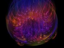 Fractal fantazi koloru elementu dekoraci fantazi skutka abstrakcjonistycznego nowożytnego ciemnego tapetowego okwitnięcia unikaln Fotografia Stock