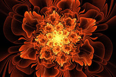 Fractal fantazi kwiat Obrazy Royalty Free