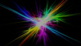 Fractal flash light rays background stock illustration
