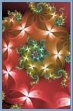 Fractal floral das curvas ilustração royalty free