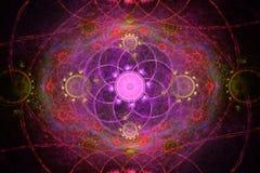 Fractal floral geométrico fotografia de stock royalty free