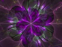 Fractal flower beautiful transparent graphic magic fantastic background shining. Fractal flower beautiful background fantastic generated shining transparent Stock Photo