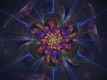 Fractal flower beautiful transparent blossom magic fantastic background shining stock illustration