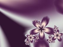 Fractal flower. Digital artwork for creative graphic design. Template for inserting text Stock Images