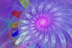 Fractal flower in gradient pink and purple Royalty Free Stock Photo