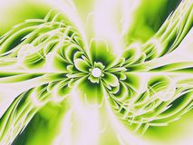 Fractal flower green Royalty Free Stock Image