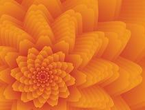 Fractal flower background. Fractal flower in orange colors Royalty Free Illustration