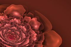 Fractal flower in shades of pink stock illustration