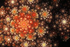 Fractal flower Royalty Free Stock Photography