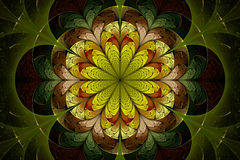 Fractal Flower of Spring Stock Photo