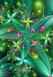 Fractal Flowers Stock Photo