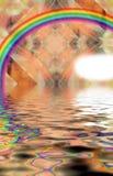 Fractal-Fonds und Wasser und der Regenbogen Lizenzfreies Stockbild