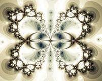 Fractal formado mariposa hermosa ilustración del vector