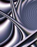 Fractal Forms in Steel Royalty Free Stock Photo