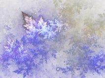 Fractal frozen pattern, digital artwork Stock Image