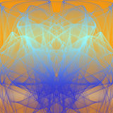 Fractal Fund. Set of lines and colors made with fractal Stock Photography