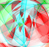 Fractal Fund. Set of lines and colors made with fractal Royalty Free Stock Images