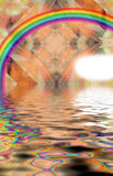 Fractal Fund and water and the rainbow Royalty Free Stock Image
