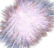 Fractal fur fluffy flower or a blue dandelion Stock Photo