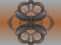 Fractal fyra gör den abstrakta geometriska composition--3dtolkningen Arkivfoton