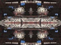 Fractal fyra gör den abstrakta geometriska composition--3dtolkningen Royaltyfria Foton