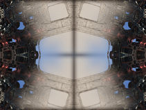 Fractal fyra gör den abstrakta geometriska composition--3dtolkningen royaltyfri illustrationer
