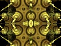 Fractal fyra gör den abstrakta geometriska composition--3dtolkningen Royaltyfri Bild
